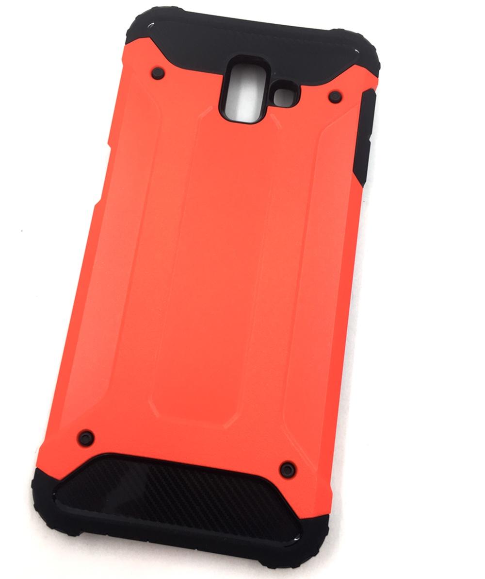 Чехол для сотового телефона Мобильная мода Samsung J6 Plus Накладка противоударная с усиленными углами, красный чехол для сотового телефона мобильная мода samsung a8 plus 2018 накладка nxe glittery powder pc tpu красный 1529 красный