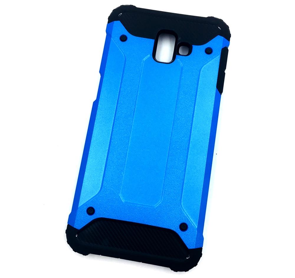 Чехол для сотового телефона Мобильная мода Samsung J6 Plus Накладка противоударная с усиленными углами, синий