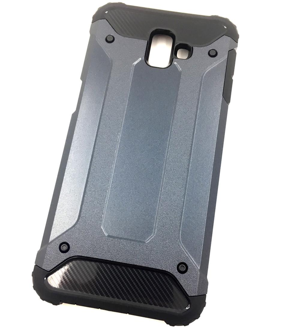 Чехол для сотового телефона Мобильная мода Samsung J6 Plus Накладка противоударная с усиленными углами, темно-синий