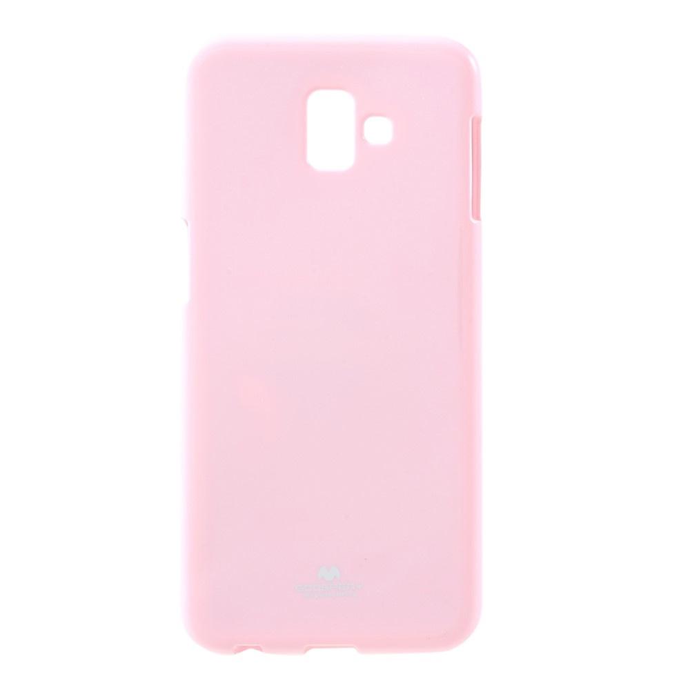 Чехол для сотового телефона Мобильная мода Samsung J6 Plus Накладка силиконовая ламинированная пленкой Jelly Case, розовый чехол для сотового телефона мобильная мода samsung grand prime g530 j2 prime накладка силиконовая jelly case