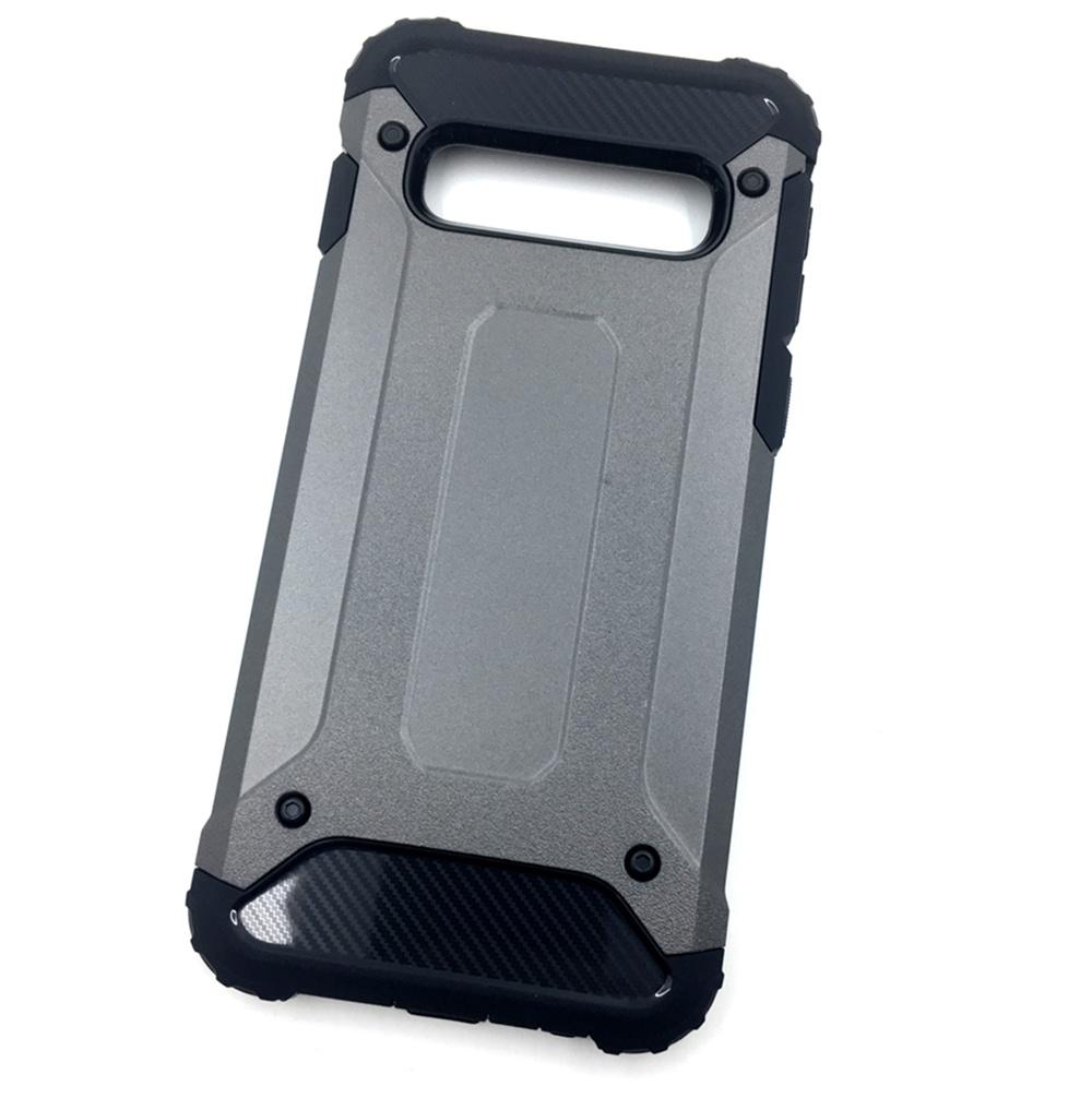 Чехол для сотового телефона Мобильная мода Samsung S10 Накладка противоударная с усиленными углами, коричневый