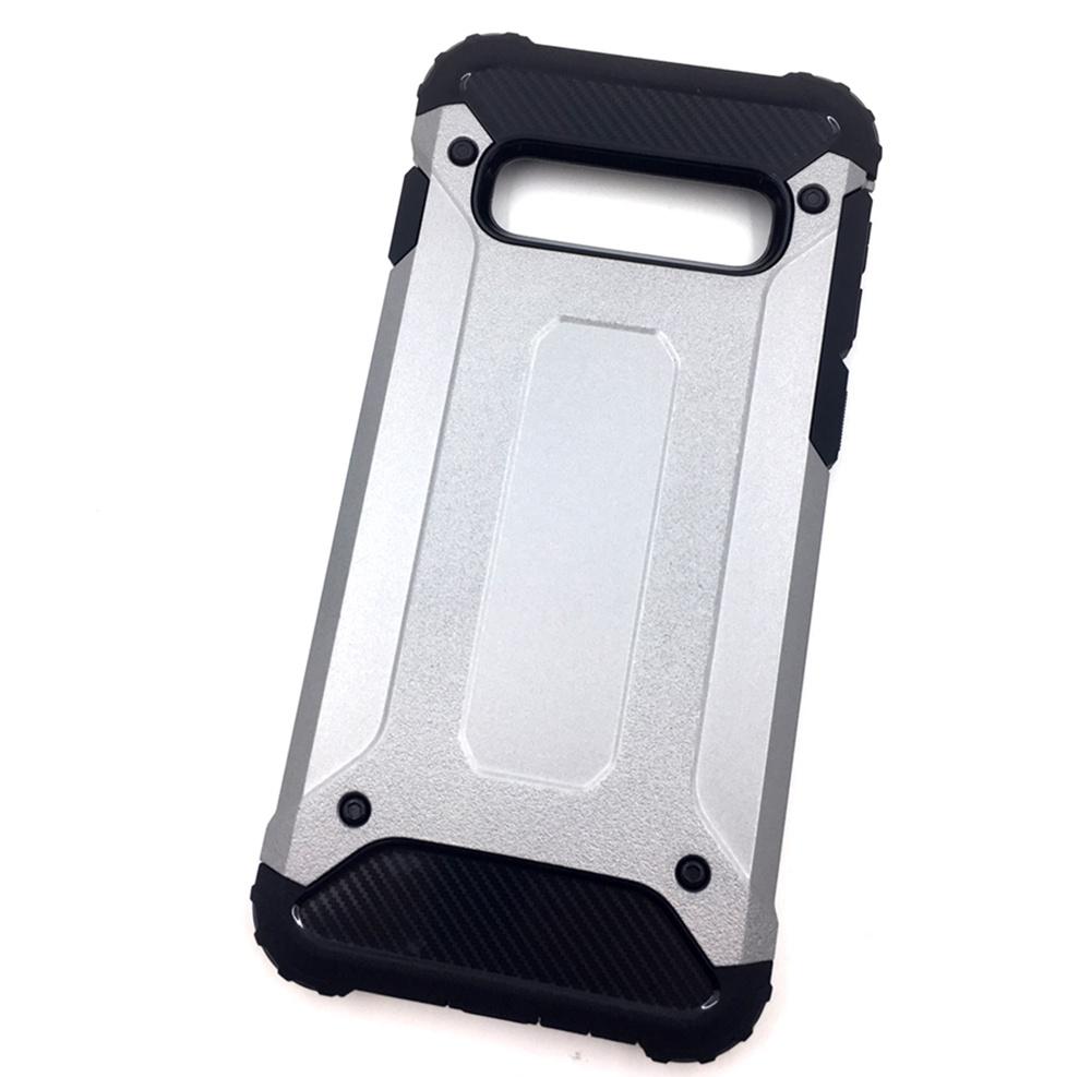 Чехол для сотового телефона Мобильная мода Samsung S10 Накладка противоударная с усиленными углами, серый