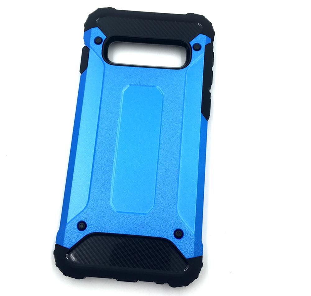 Чехол для сотового телефона Мобильная мода Samsung S10 Накладка противоударная с усиленными углами, темно-синий