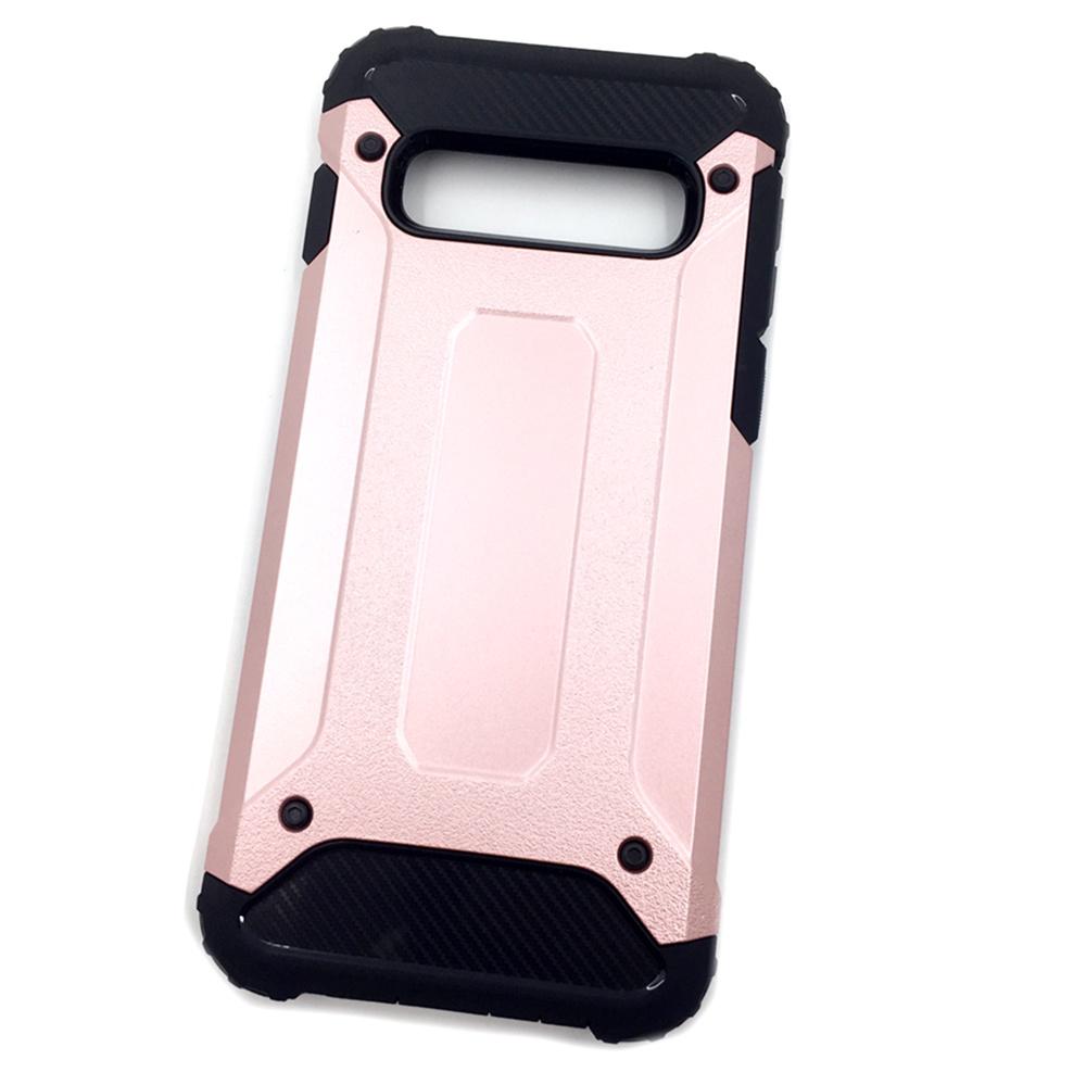 Чехол для сотового телефона Мобильная мода Samsung S10 Накладка противоударная с усиленными углами, розовый