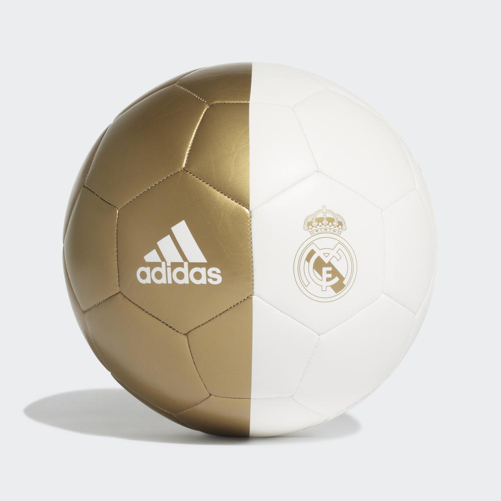 Мяч футбольный Adidas Real Madrid Cpt, DY2524, белый, золотой, размер 5 мяч футбольный adidas real madrid fbl cw4156 белый серый размер 3
