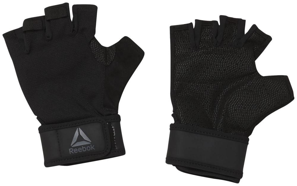 Перчатки для фитнеса Reebok OST Wrist Glove, EC5655, черный, размер S лонгслив женский reebok cbt jacquard ls ras цвет черный dq2000 размер s 44