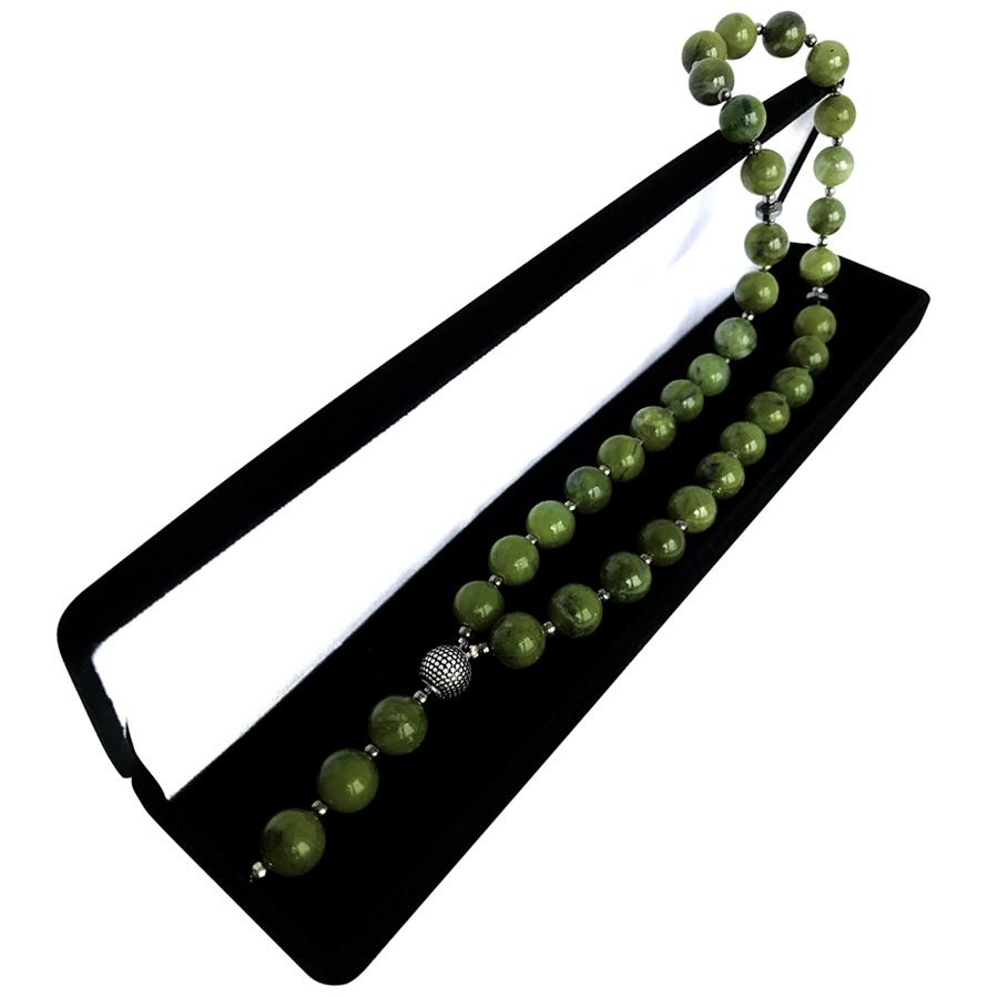 Чётки Мастерская Морозова Четки нефрит, темно-зеленый