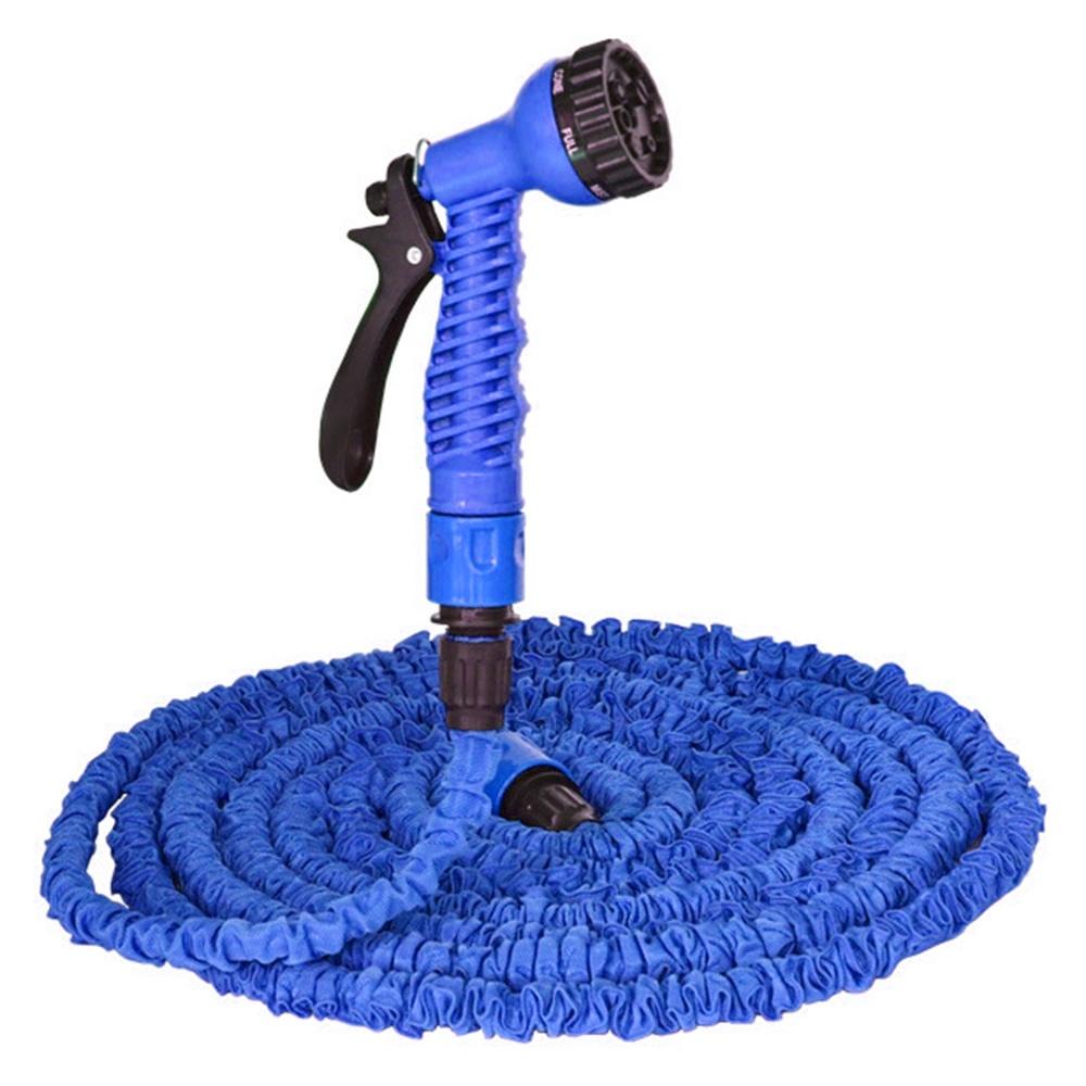 Шланг поливочный TopSeller Эластичный шланг для полива, голубой шланг для мойки johnson