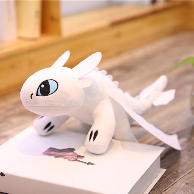 Мягкая игрушка TopSeller Дракон Беззубик белый