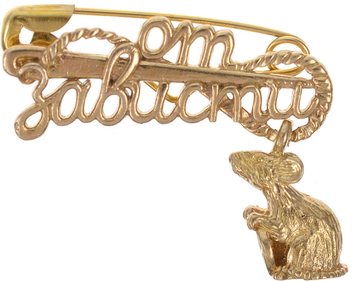 Булавочка от зависти Miland Мышка, Т-6410, золотой, 3 см
