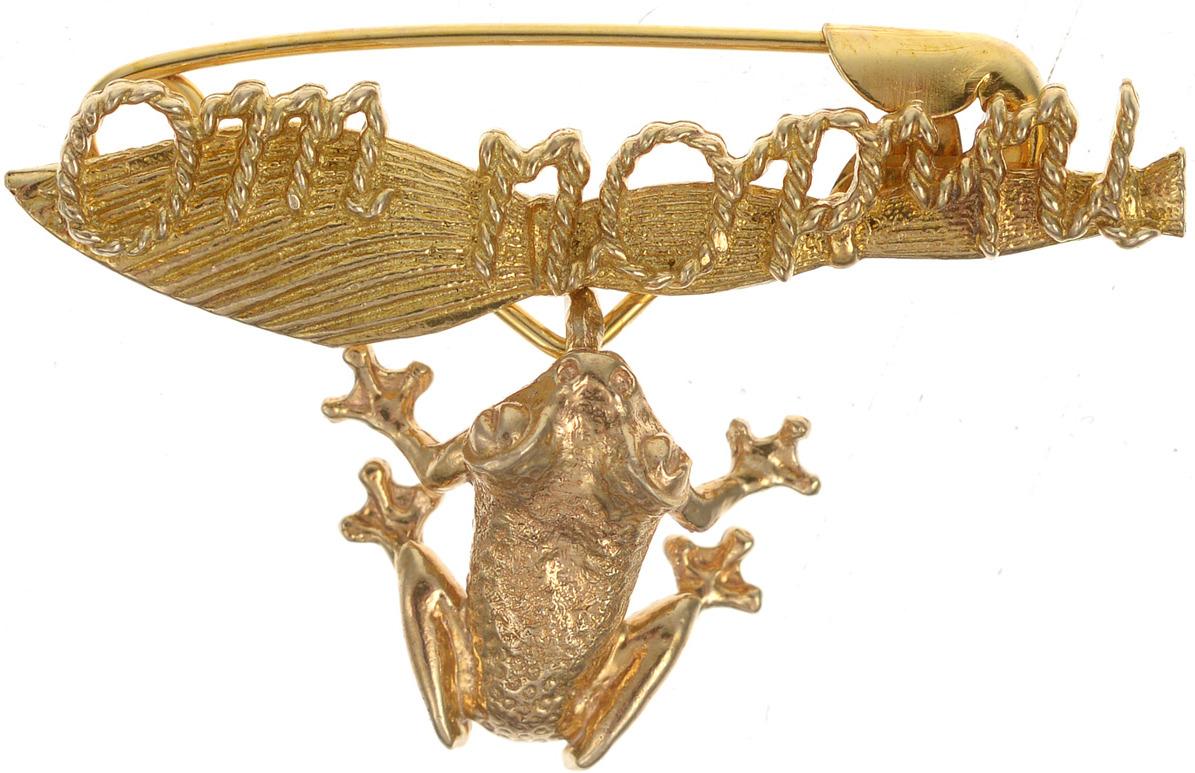 Булавочка от порчи Miland Лягушка, Т-6406, золотой, 3 см