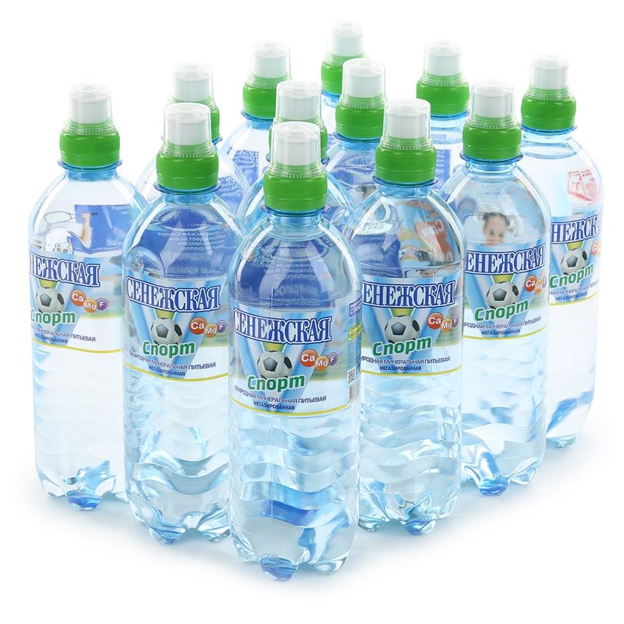 Вода Сенежская fitness негазированная, 0,5л (упаковка 12шт)
