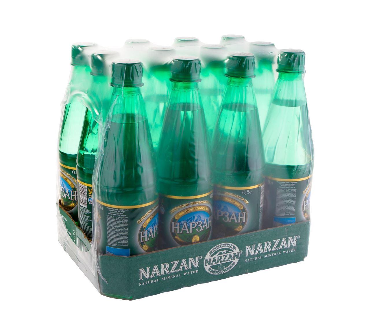 Вода Нарзан природная минеральная натуральной газации (пэт), 0,5л (упаковка 12шт)