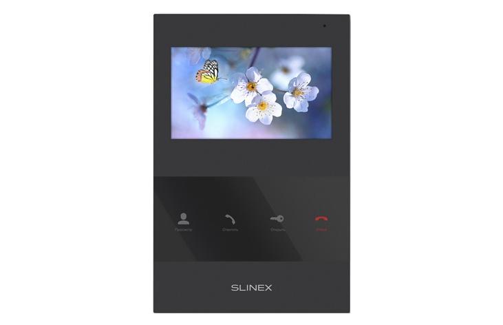 Видеодомофон Slinex Монитор видеодомофона SQ-04, Black, черный