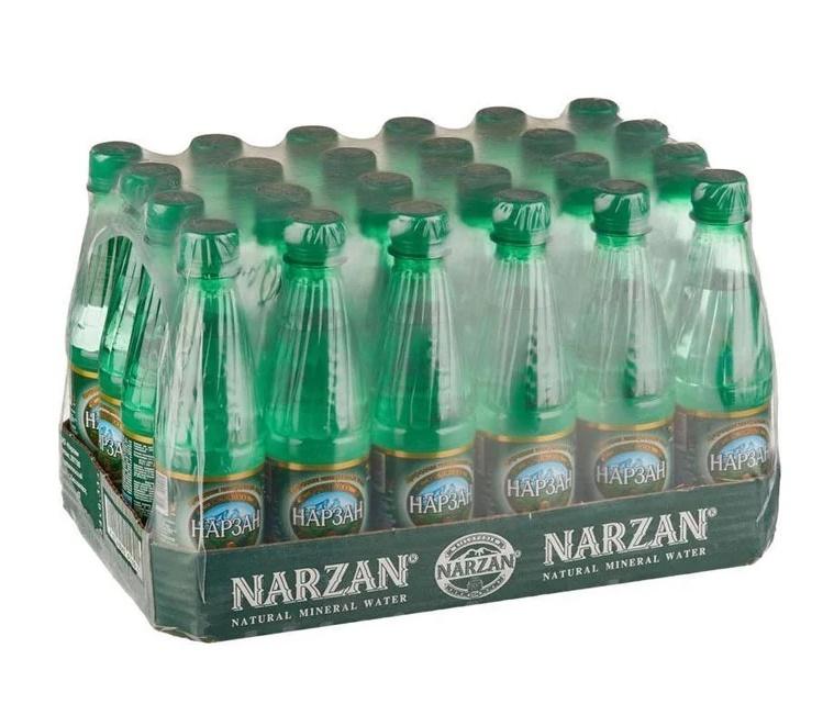 Вода Нарзан природная минеральная натуральной газации (пэт), 0,33л (упаковка 24шт)