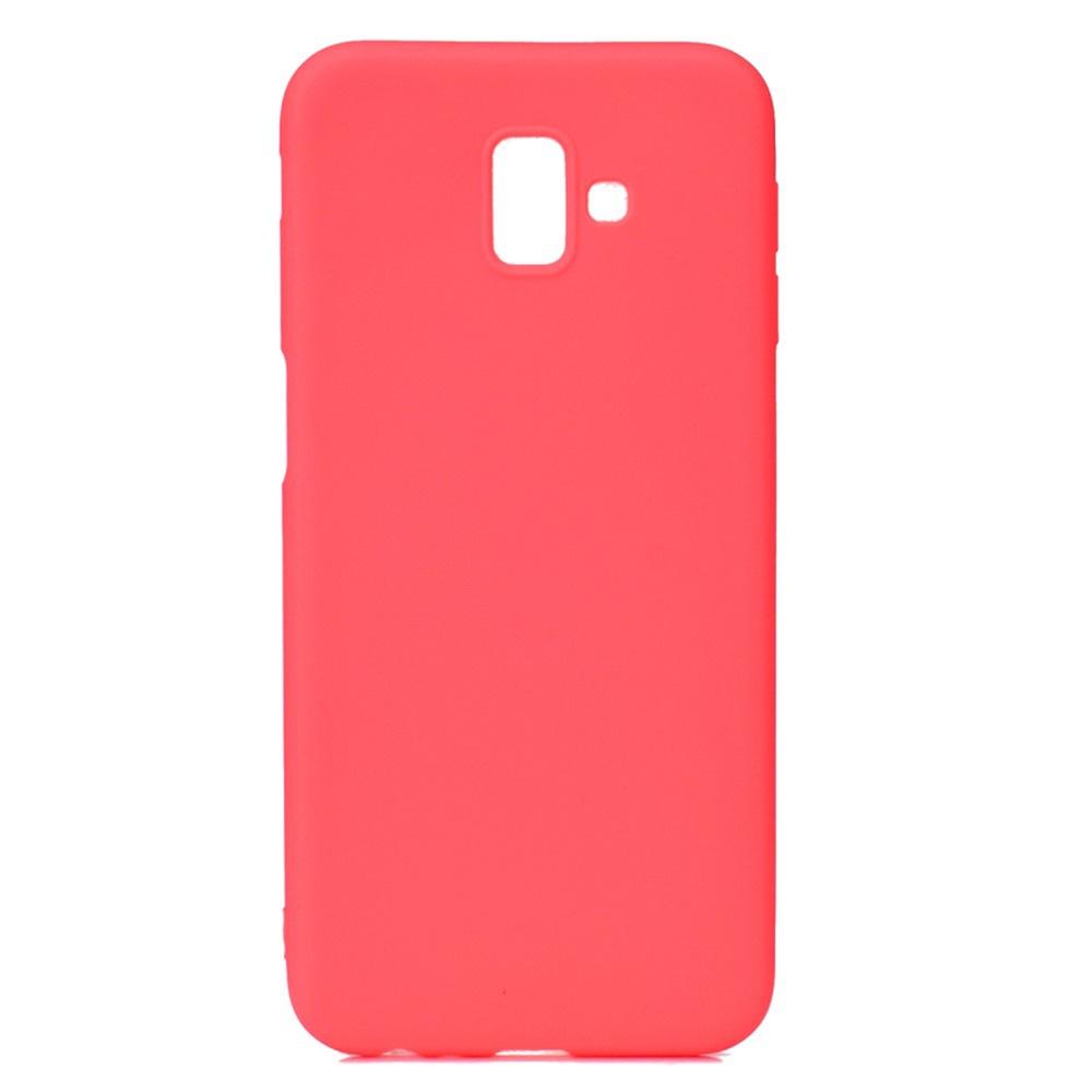 Чехол для сотового телефона Мобильная мода Samsung J6 Plus Накладка силиконовая с не скользящим покрытием, красный чехол для сотового телефона мобильная мода samsung a8 plus 2018 накладка nxe glittery powder pc tpu красный 1529 красный
