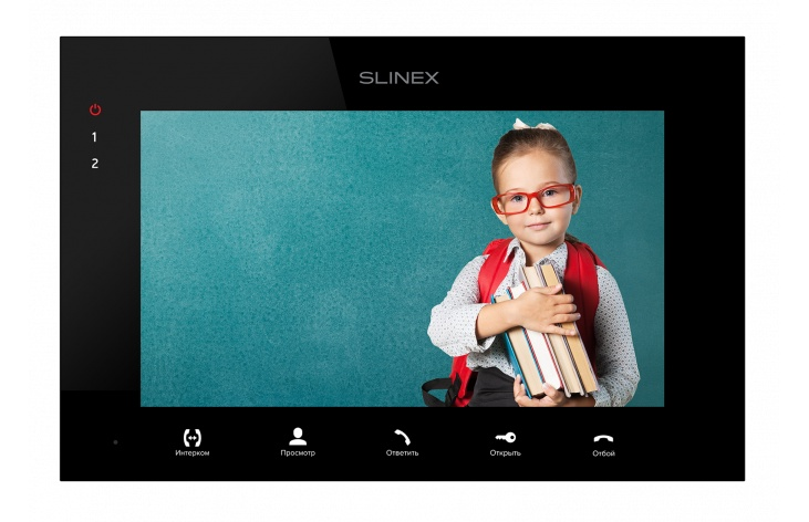 Видеодомофон Slinex Монитор видеодомофона SQ-07MT, Black, черный