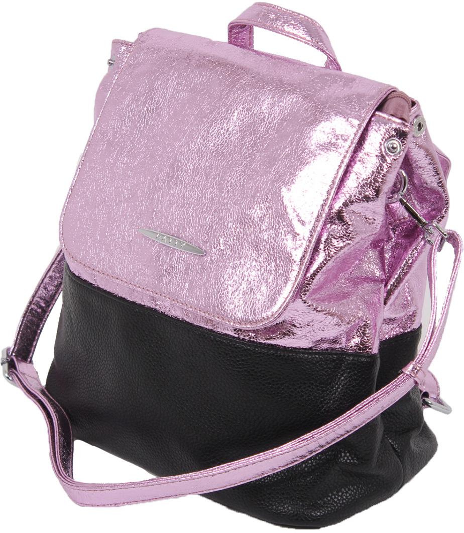 Рюкзак женский Flioraj, 1776 pink, черный рюкзак женский flioraj цвет серый 9806 1605 106