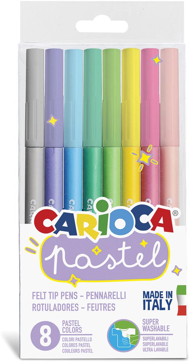 Набор фломастеров Carioca Pastel, 43032, 8 цветов набор фломастеров carioca bravo 24 цв в карт конверте с европодвесом 42763