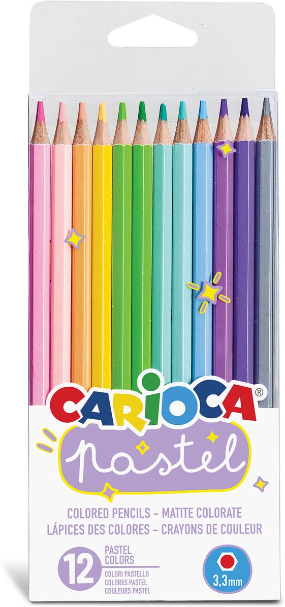 Набор карандашей Carioca Pastel, 43034, 12 цветов carioca набор пластиковых мелков plastello 12 цветов