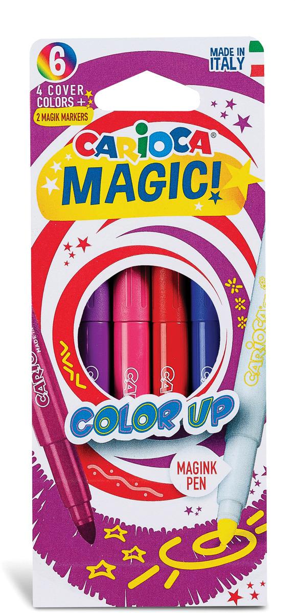 Набор фломастеров Carioca Magic, 43047, 6 цветов набор фломастеров carioca neon 8 цв в карт конверте с европодвесом 42785