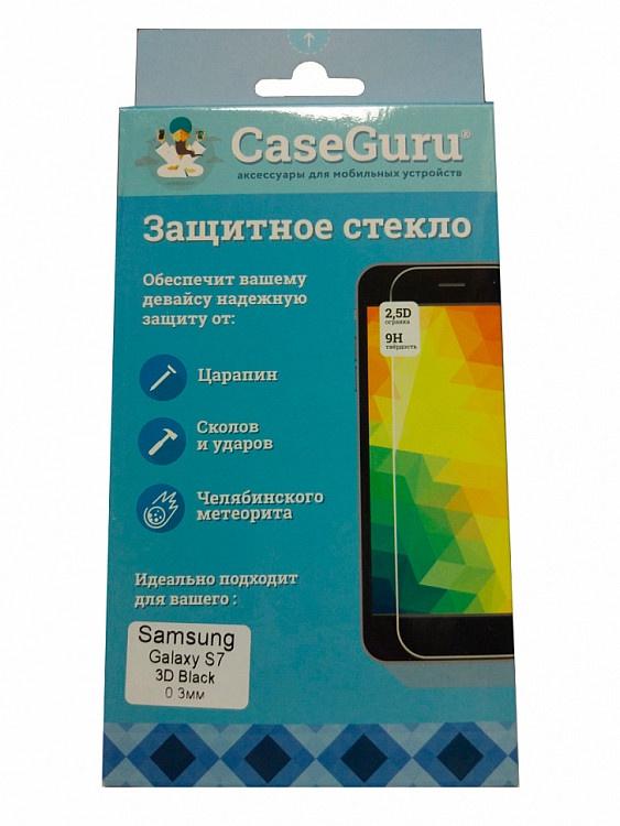 Защитное стекло для Samsung Galaxy S7 (3D черная рамка), черный защитное стекло caseguru 3d для samsung galaxy s7 gold