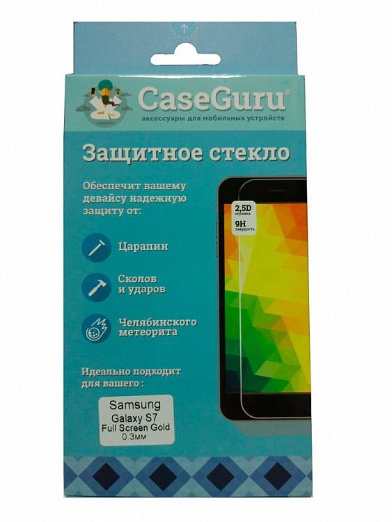 Защитное стекло для Samsung Galaxy S7 (золотая рамка) цена и фото