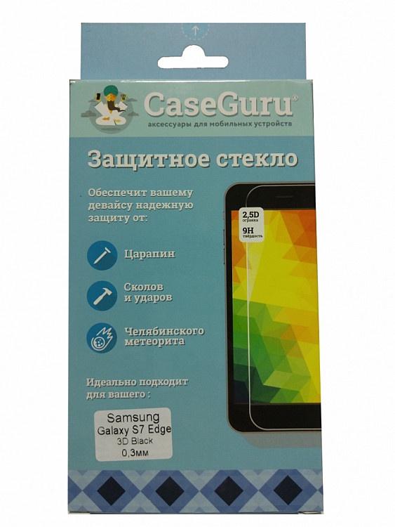 Защитное стекло 3D для Samsung Galaxy S7 Edge (черная рамка) 3d galaxy wall sticker