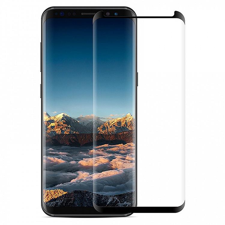 Защитное стекло для Samsung Galaxy S9 (3D черная рамка), черный