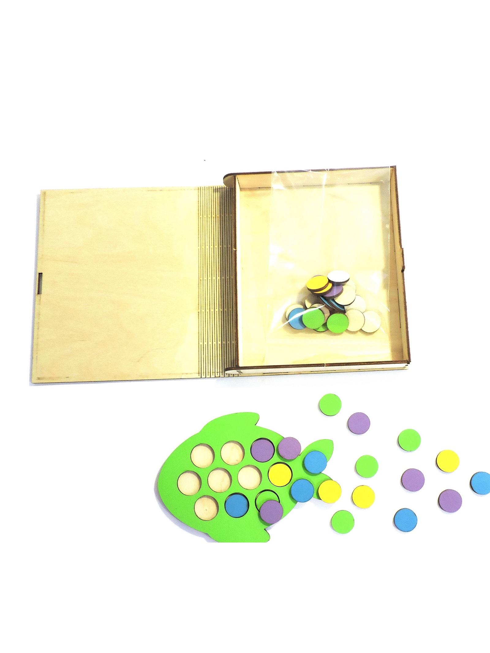 Обучающая игра Taowa Мозаика. Кружочки Рыбка. зеленый, красный