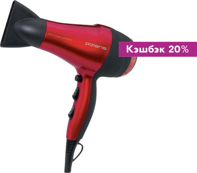 Фен Polaris PHD 2077i Red / Black 2000W бытовая техника плакат