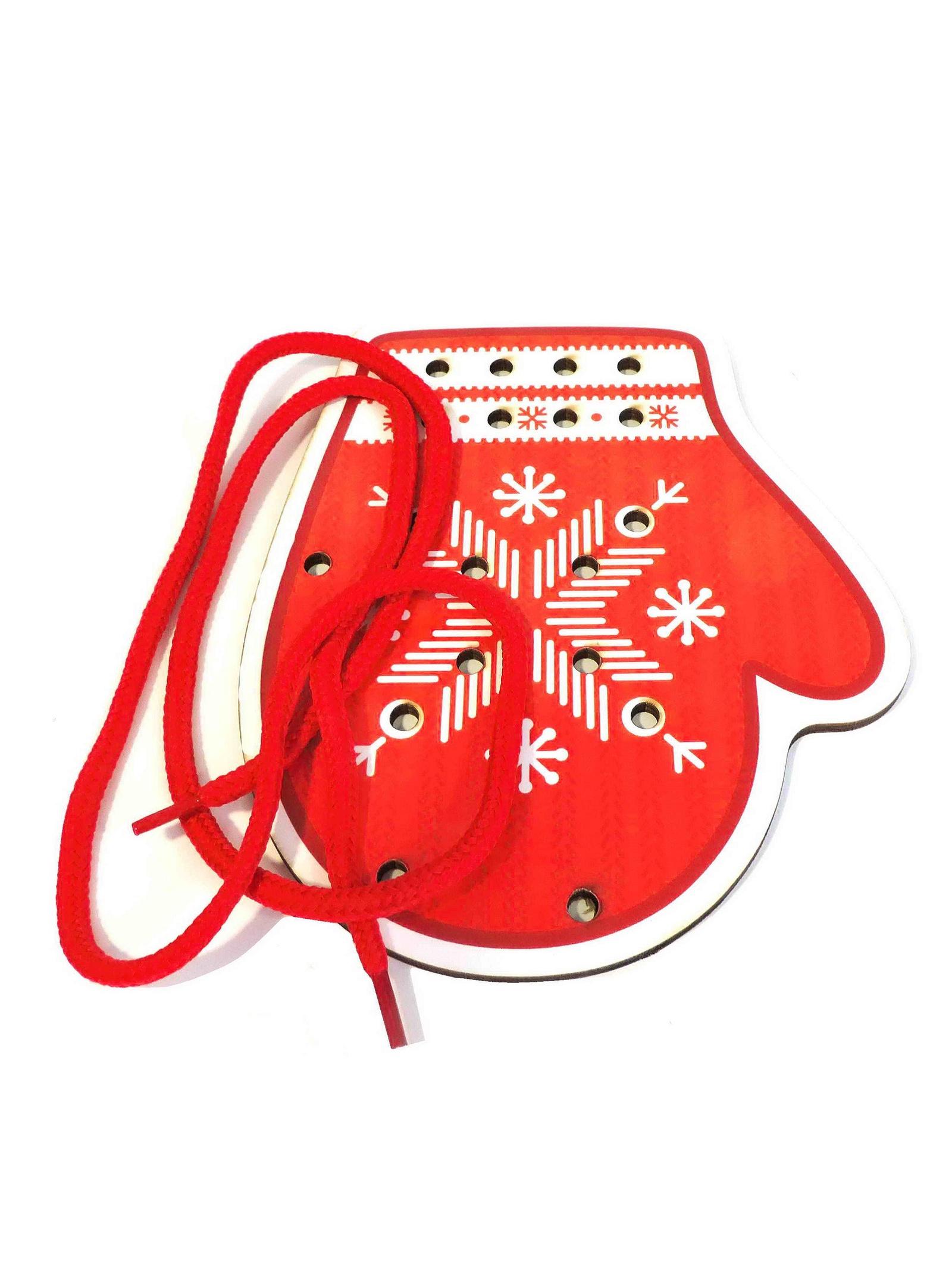 Шнуровка Taowa цветная Рукавица красная красный
