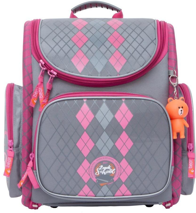 Рюкзак Orange Bear, серый, розовый, 11,5 л рюкзак discovery 40х28х16см рельефная анатомическая спинка серый