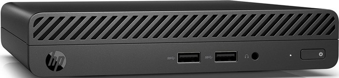 Мини ПК HP 4YV68EA / HP 260 G3 DM, 4YV68EA, черный персональный компьютер hp bundles 400 g3 [1qn65es] dm i3 6100 8gb 128gb ssd w10pro hp v213a 20 7 monitor