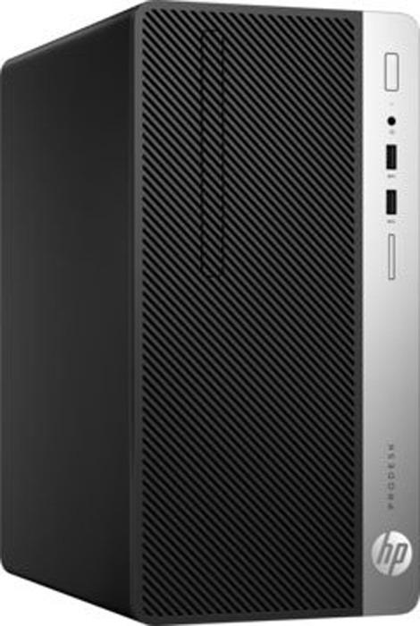 Настольный компьютер HP ProDesk 400 G4 MT, 1JJ54EA, черный системный блок hp prodesk 600 sff i5 4590 3 3ghz 4gb 500gb hd4600 dvd rw win7pro win8 1pro клавиатура мышь j0f01ea