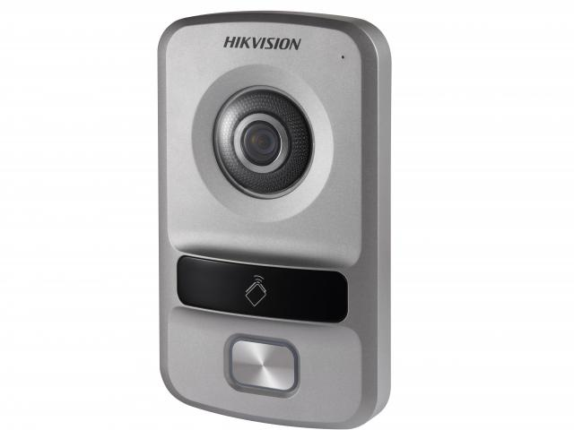 Вызывная панель HIKVISION DS-KV8102-IP, серебристый includes mounting box hikvision ds kv8102 1a ds kv8102 im visual intercom doorbell waterproof ic card ip intercom