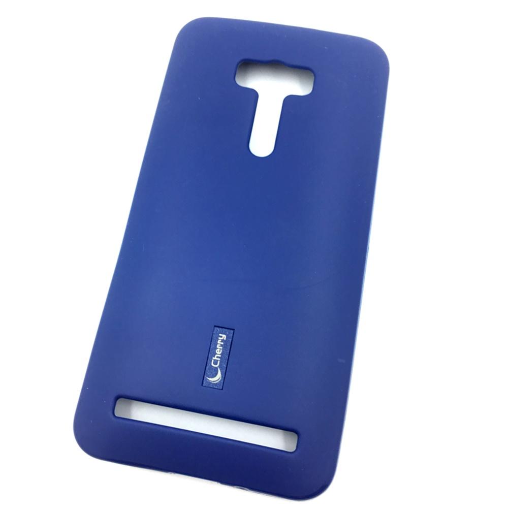 Чехол для сотового телефона Cherry Asus Zenfone 2 Lazer ZE550KL Накладка резиновая с пленкой на экран, синий цена 2017