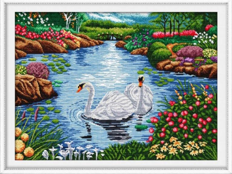 Набор для вышивания DOME The swan lake