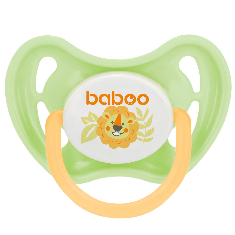 Пустышка BABOO Safari силиконовая симметричная от 6 мес зеленый пустышка baboo safari силиконовая симметричная от 6 мес зеленый