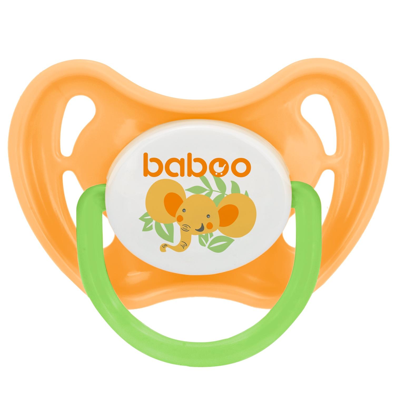 Пустышка BABOO Safari силиконовая симметричная от 0 мес оранжевый пустышка baboo safari силиконовая симметричная от 6 мес зеленый