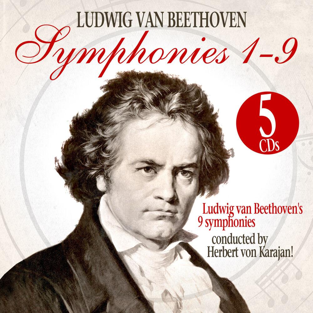 Людвиг Ван Бетховен,Герберт Караян Ludwig Van Beethoven, Herbert Von Karajan. Symphonies 1-9 (5 CD) herbert von karajan beethoven symphony no 9 overture
