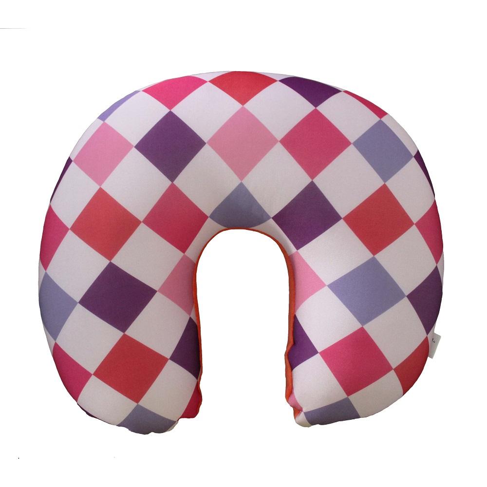 Подушка для шеи Gift republic Арлекино, розовый, сиреневый, фиолетовый, оранжевый