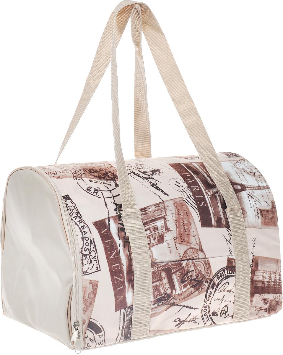 Сумка-переноска для животных Теремок, 34 х 22 х 21 см сумка переноска для животных теремок собаки цвет коричневый оранжевый черный 34 х 22 х 21 см