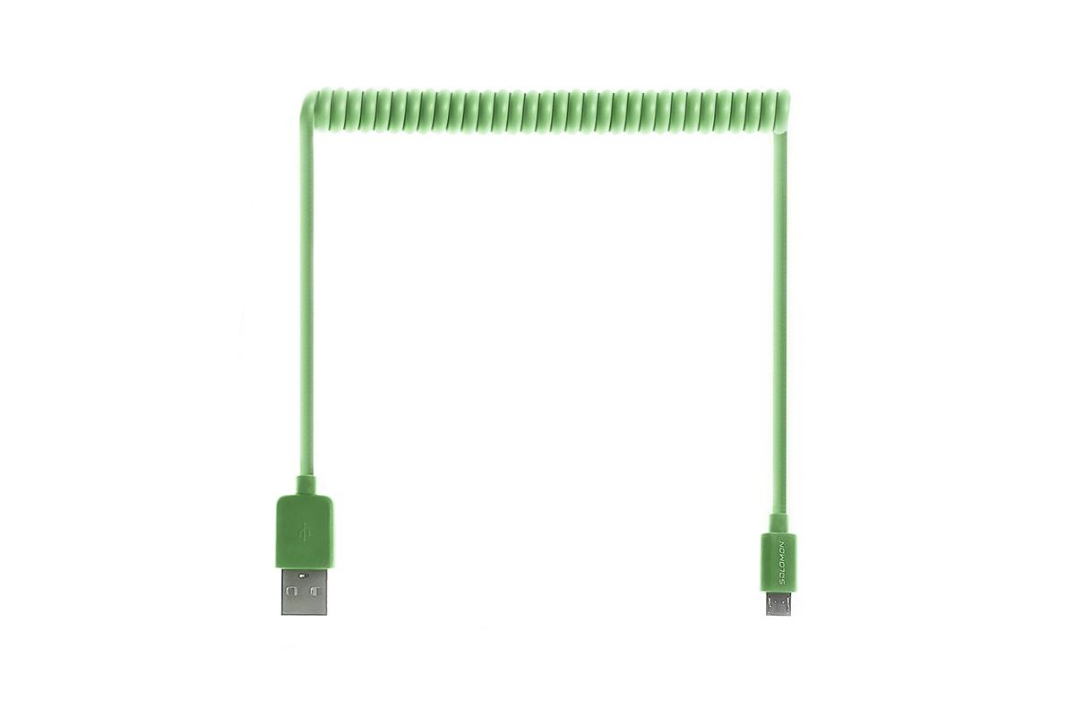Кабель Salomon Micro USB Витой 1,5м (Зеленый), зеленый кабель maverick usb micro usb 1 5 м витой черный
