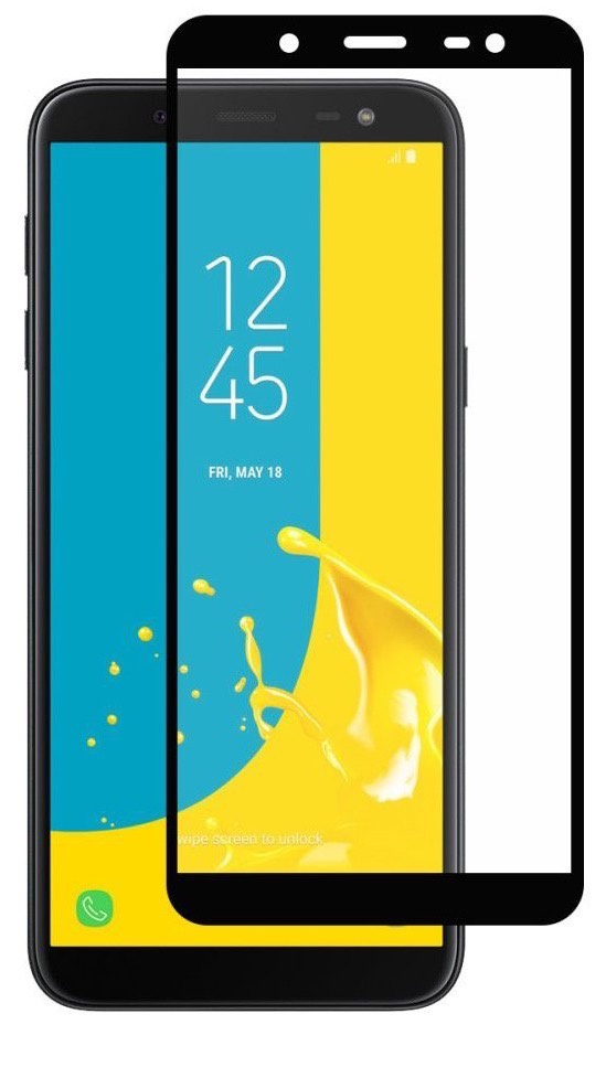 Защитное стекло Gurdini противоударное Full Screen 2.5D 0.26mm для Samsung Galaxy J4 Plus, черный