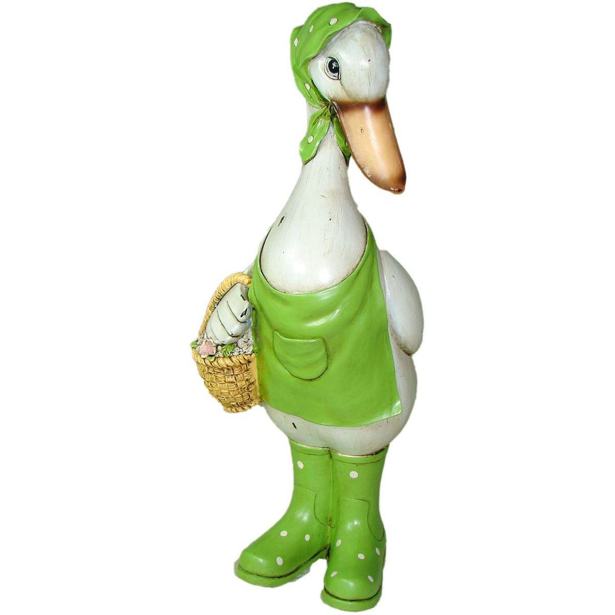 Фигурка садовая Park Гусыня с корзинкой, GF-Duck-01