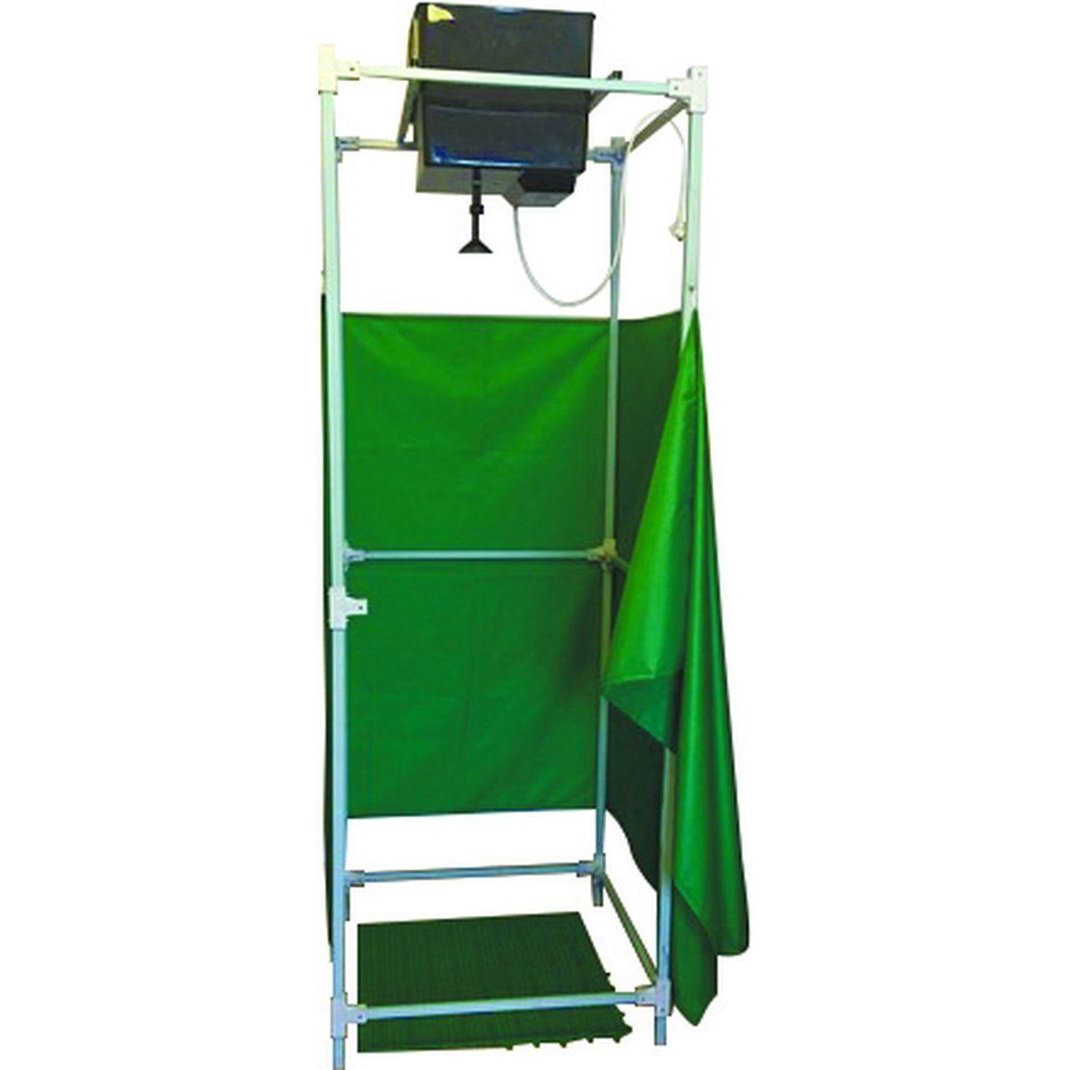 Душ садовый Чистюля, с электроводонагревателем, 004160, зеленый, 55 л элбэт эвбо 55 black электроводонагреватель