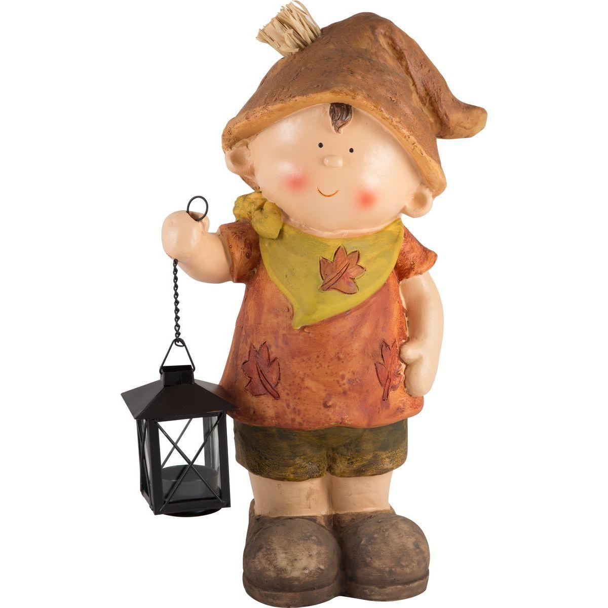 Фигурка садовая Park Мальчик с фонариком, GK-B-02