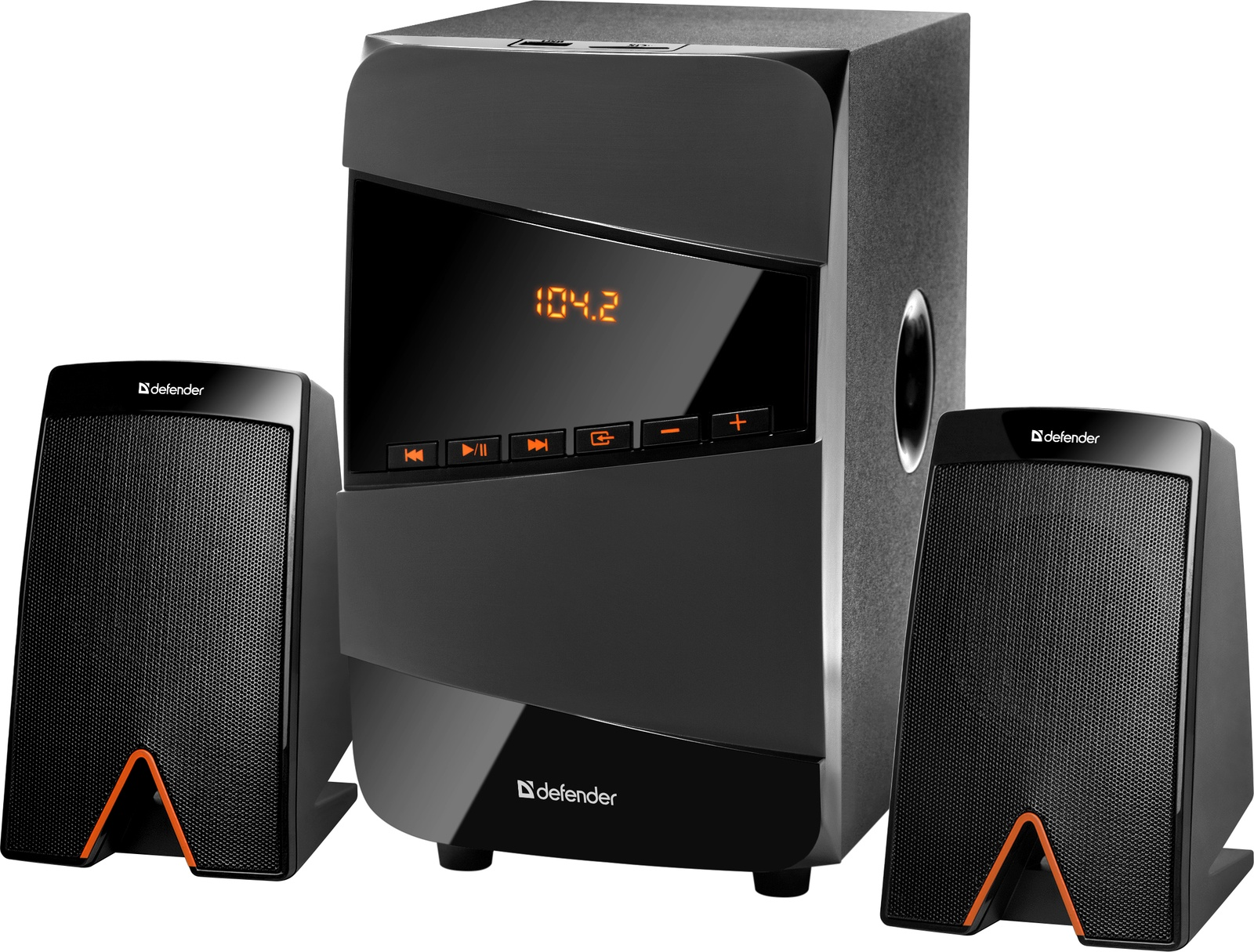 Акустическая 2.1 система Defender X361 36Вт, BT/FM/MP3/SD/USB/LED/RC