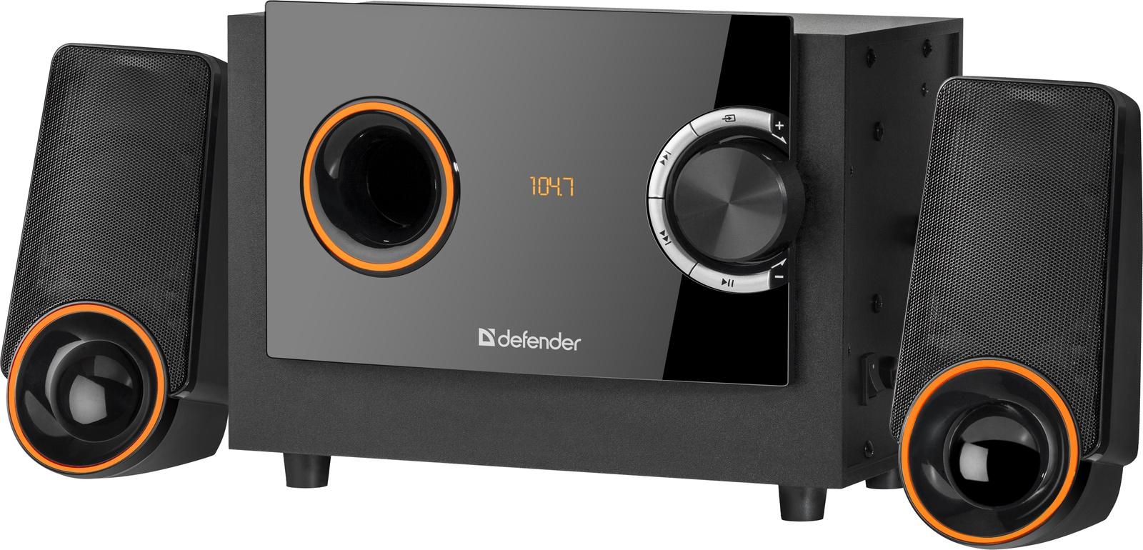Акустическая 2.1 система Defender X362 36Вт, BT/FM/MP3/SD/USB/LED/RC